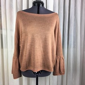 Mohair Boat Neck Bell Sleeve Sweater 🇮🇹